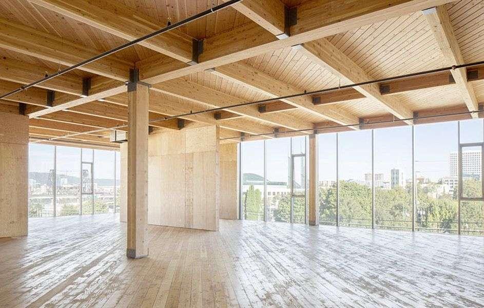 an interior frame made of beech wood