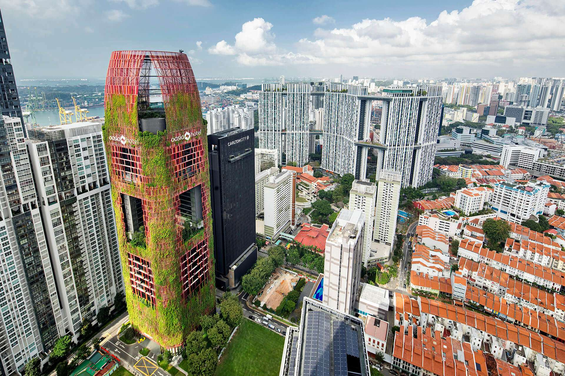 The Oasia Hotel, located in Singapore's business district
