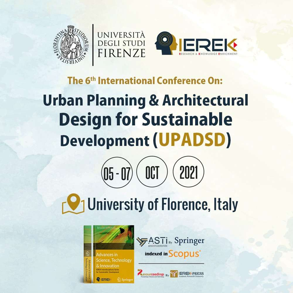Urban Planning & Architectural Design for Sustainable Development (UPADSD) – 6th Edition