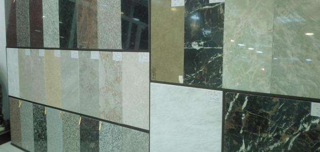 Marble types and shapes