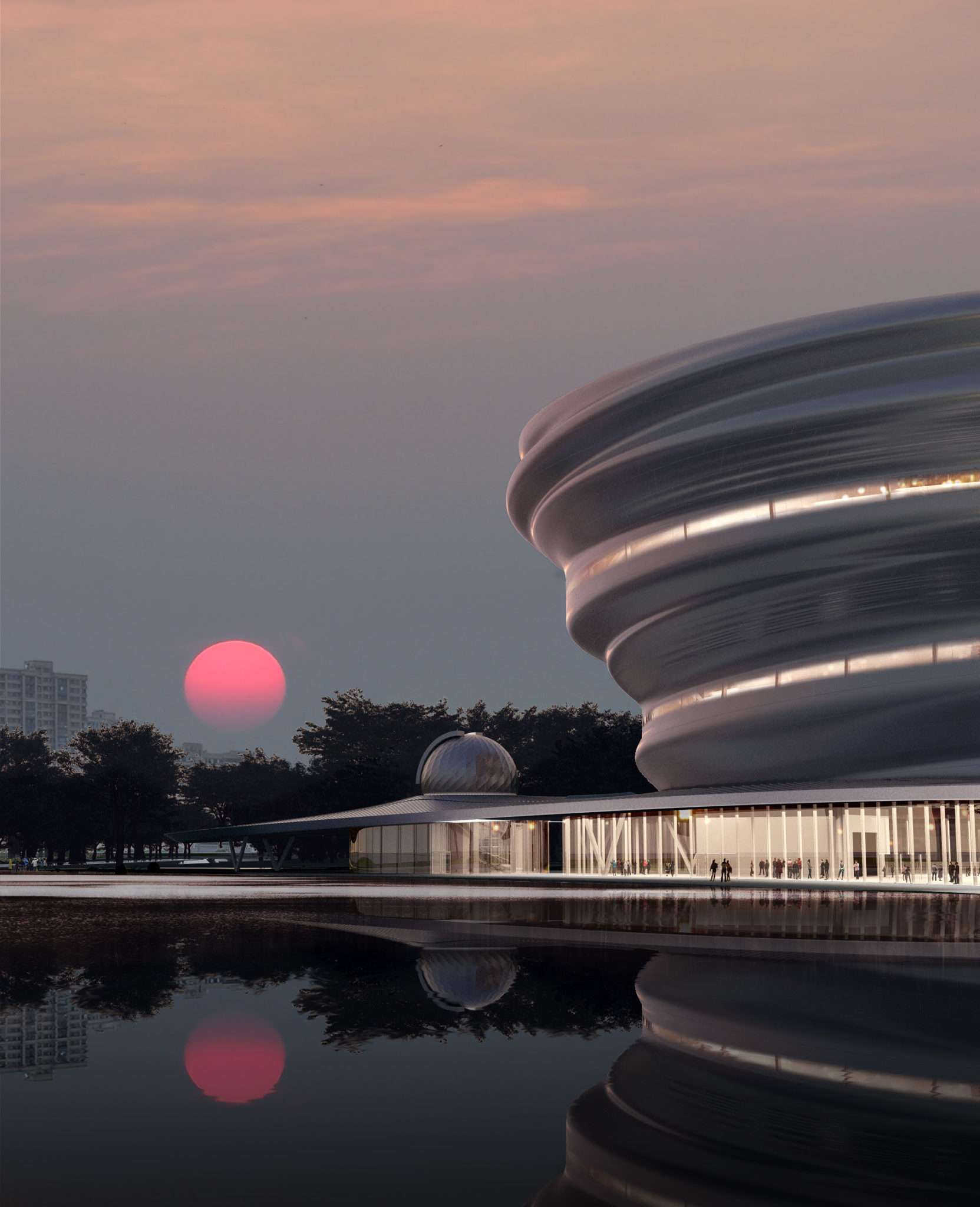 Hainan Science and Technology Museum Silver Facade Design