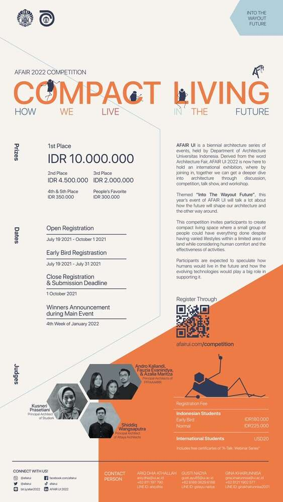 COMPACT LIVING: AFAIR UI 2022 Competition | Call for Entries