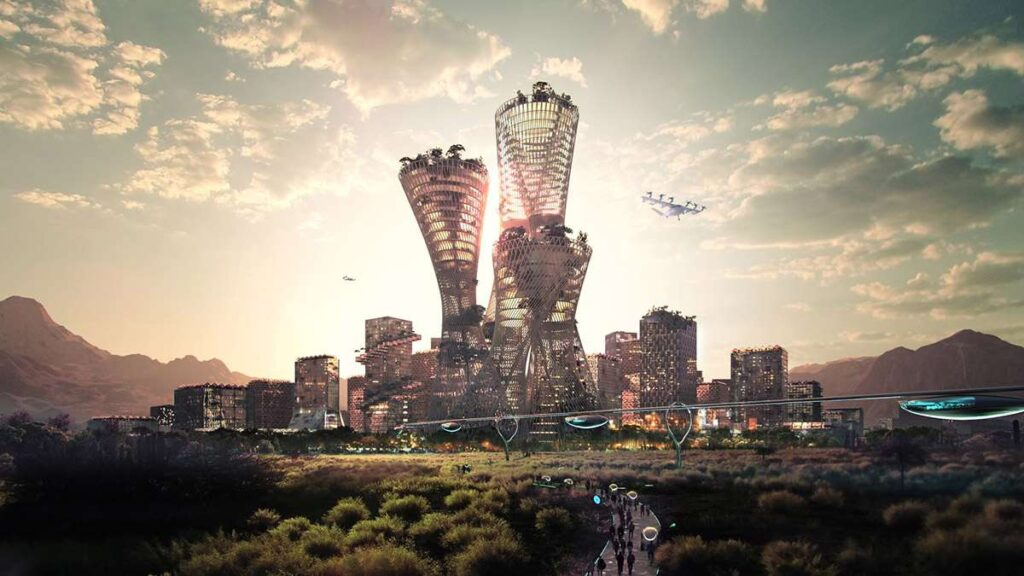 """Bjarke Ingels Group Envisions """"New City In America"""" That Can House Five Million People"""